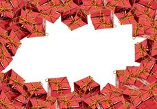 Red christmas gift boxes stock image