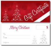 Red christmas gift certificate Royalty Free Stock Photo