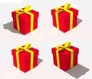 Red christmas gift. Four light path Stock Images