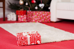 Red Christmas gift Royalty Free Stock Photo