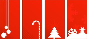 Red Christmas Gift Tags or Labels Stock Images