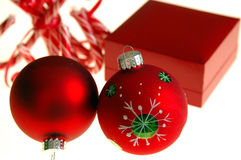Red christmas gifts Royalty Free Stock Image