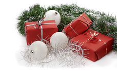 Red Christmas gifts Royalty Free Stock Photography