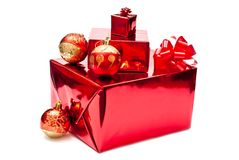Red Christmas Gifts And Toys Royalty Free Stock Images