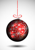 Red Christmas globe Royalty Free Stock Photos