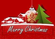 Red Christmas Greeting Royalty Free Stock Photo