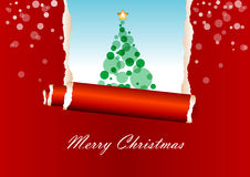 Red christmas greeting card. Red background christmas greeting card Royalty Free Stock Images