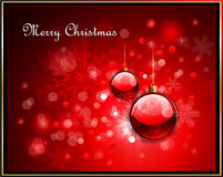 Red Christmas greeting card Royalty Free Stock Image