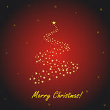 Red Christmas greeting card. Vector illustration stock illustration