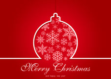Red Christmas Greeting Card royalty free illustration