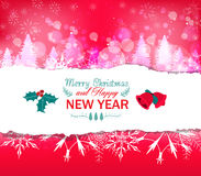 Red christmas greeting card background Stock Photography