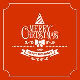 Red Christmas Greeting Card Background. Vector Royalty Free Stock Image
