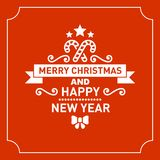 Red Christmas Greeting Card Background. Vector Stock Photography