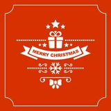 Red Christmas Greeting Card Background. Vector Royalty Free Stock Photos