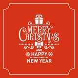 Red Christmas Greeting Card Background. Vector Royalty Free Stock Photo
