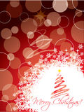 Red christmas greeting card design Royalty Free Stock Images