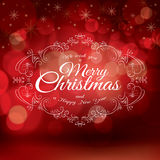 Red Christmas greeting card design Vector royalty free illustration