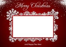 Red Christmas Greeting Stock Photo
