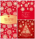 Red christmas greetings Royalty Free Stock Photography