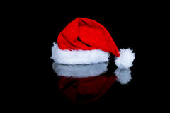 Red christmas hat stock photography