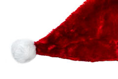 Red Christmas hat of Santa Claus isolated on a white background. Red Christmas hat of Santa Claus isolated in high resolution on a white background Royalty Free Stock Images