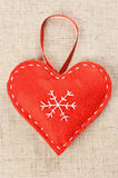 Red Christmas heart Stock Image