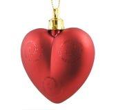 Red christmas heart Stock Photos