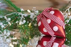 Red Christmas heart Royalty Free Stock Photography