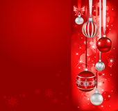 Red christmas holiday background Stock Photos