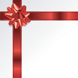 Red Christmas Holiday Bow and Ribbon Background Royalty Free Stock Photo