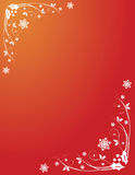 Red Christmas holly swirls Royalty Free Stock Photography
