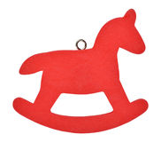 Red Christmas horse Royalty Free Stock Photography