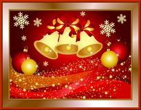 Red christmas illustration Royalty Free Stock Images