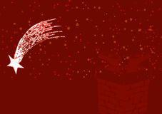 Red Christmas illustration 3. Christmas abstract illustration on dark red background Royalty Free Stock Photos