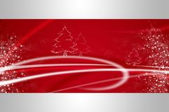 Red christmas illustration Stock Photo