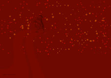 Red Christmas illustration 5. Christmas abstract illustration on dark red background Stock Image