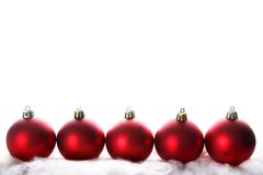 Red christmas isolated on white. The red christmas isolated on white Stock Photo