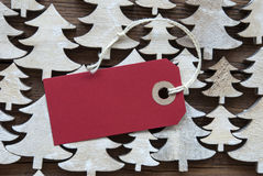 Red Christmas Label With Copy Space Stock Photos