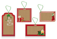 red christmas labels Royalty Free Stock Photography