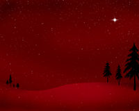 Red Christmas landscape Stock Image