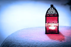 Red Christmas lantern Stock Images