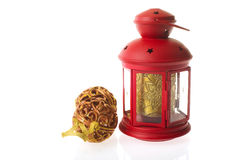 Red Christmas lantern Stock Image