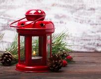Red christmas lantern Stock Photo