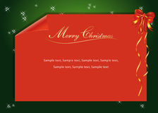 A red Christmas Letter. A Christmas letter red a green background stock illustration
