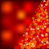 Red christmas lights. Vector illustration of red christmas lights Royalty Free Stock Photos