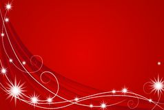 Red Christmas Lights Background stock image
