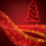 Red christmas lights background. Red colorful christmas lights background Royalty Free Stock Photo