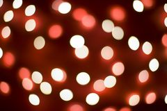 Red Christmas lights background Stock Photo
