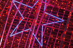 Red Christmas Lights royalty free stock photography