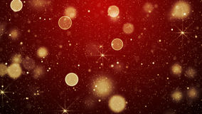 Red christmas lights and stars abstract background Stock Images